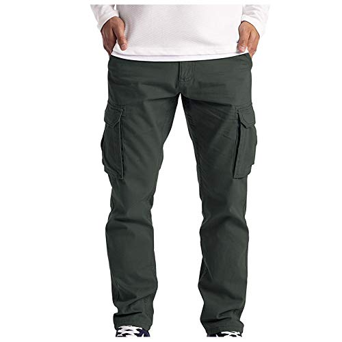 LAOLUO 2021 Pantalon Cargo Homme Militaire Sport Nouveau Slim Pas Cher Casual Jogging Pantalons de Travail Grande Taille Trousers avec Poches Latérales Streetwear Pants Droit Bas de Survetement