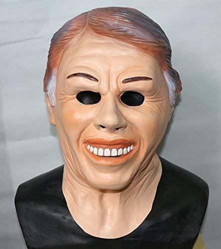 Le caoutchouc plantation TM 619219292627 Jimmy Carter EX President Masque Latex américain Déguisement accessoire de costume de film, adulte, taille unique
