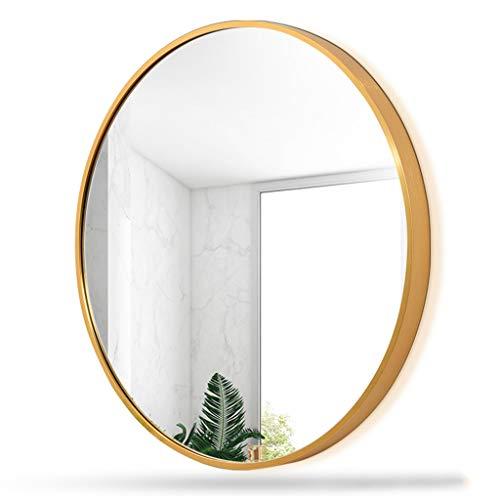Wall-Mounted Mirrors Specchio da Parete per Bagno, Specchio Argento HD con Cornice in Metallo da 50 cm, specchi Rotondi in Vetro Nordic Wind (Colore Multiplo)