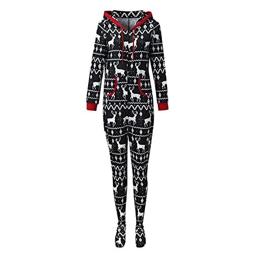 Jumpsuit Halloween Kostüm Anzug Herren Damen Junge Mädchen Pet Haustier Schlafanzug Lang Pajama Onepiece Tier Anzug Einteiler Fleece Overall Winter Weihnachten Familie Set, 4 Farben