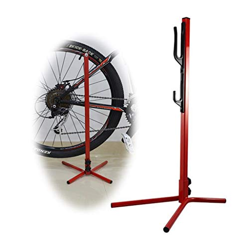 QAZWC-A1 Bicycle Kickstand Support Rack Aluminum Alloy MTB Bike Stand Universal Alloy Kick Stand for Mountain Bike, Road Bike and Folding Bike (Color : Red)