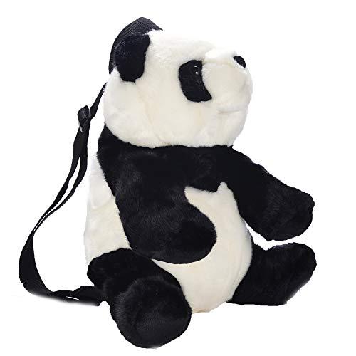 Lazada Toddler Backpack Panda Girls Backpacks Stuffed Animal Plush Bag Black and White 12 Inches