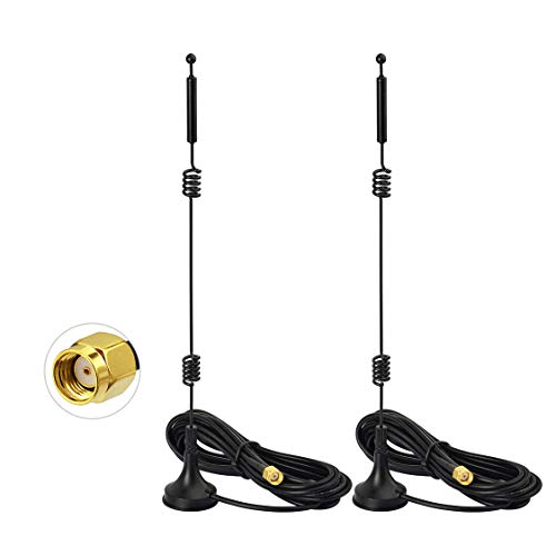 Bingfu Dual Band WiFi 2.4GHz 5GHz 5.8GHz 9dBi Magnetic Base MIMO RP-SMA Male Antenna (2-Pack) for WiFi Wireless Router Booster Range Extender Gateway Mini PCI Express PCIE Network Card USB Adapter