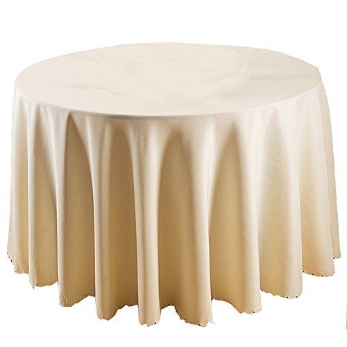 TEERFU Lot de 2 nappes rondes de qualité supérieure de 177,8 cm pour mariage/banquet/restaurant – Nappe en tissu polyester