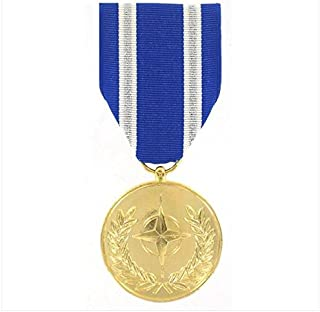 Vanguard NATO Afghanistan Non Article 5 Military Medal Award-24k Gold Plated