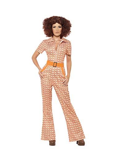 Smiffys Costume Chic Authentique des années 70, avec Combinaison Multicolor, Taille: Large
