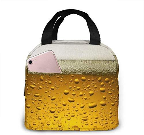 Papel tapiz de cerveza Papel tapiz de pizarra Bolsa de almuerzo Bolsa de almuerzo con aislamiento Bolsa refrigeradora reutilizable Caja