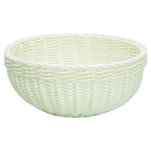 GreenGate Brotkorb Weiß Runder Korb aus Kunststoff 9X 22 cm