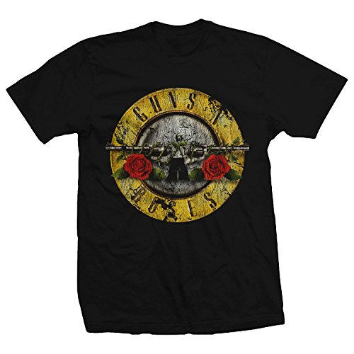 Bravado Guns N Roses Distressed Bullet Lightweight T-Shirt-Small