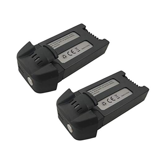 sea jump 2PCS 3.7V 1000mAh Lithium Battery for SJRC S30W T18 H301S Four-axis Drone Spare Parts Remote Control Aircraft Battery Black