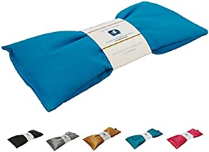 Lavender Eye Pillow - Migraine, Stress & Anxiety Relief - #1 Stress Relief Gifts - Made in USA,! (Turquoise - Organic Cotton)