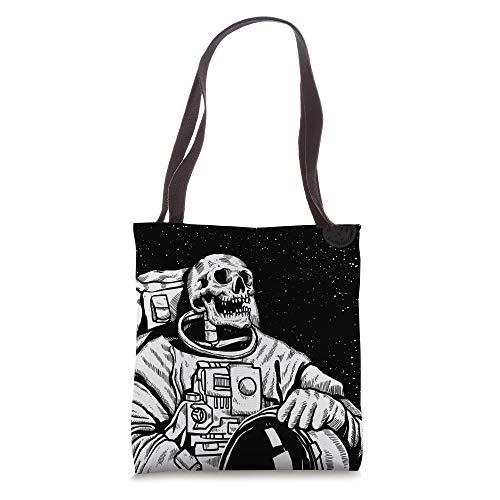 skeleton astronaut occupy mars in space on black Tote Bag