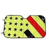Drew Tours México Bandera Negra Amarilla Parabrisas Bloques de sombrilla Rayos UV Cubierta del Protector Solar Sombrilla Aislamiento térmico Parabrisas