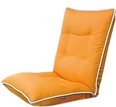 WJMLS Floor Folding Gaming Sofa Chair Lounger Folding Adjustable for Adults & Kids Transformable Folding Sleeper Lounge - Great for Reading Games Meditat,Colour:Orange (Color : Orange)