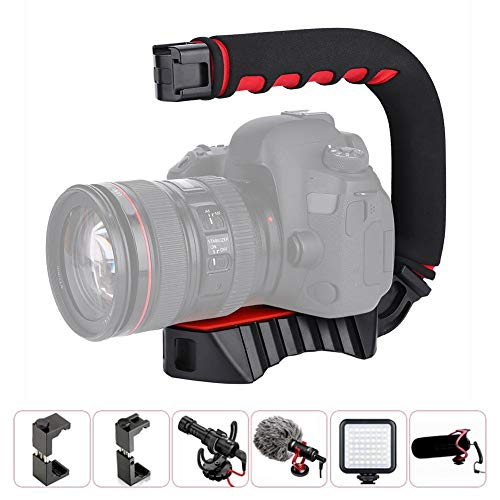 DV-houder, camerahouder, Ulanzi Triple U-Grip-schoenhouder Video Action Stabiliserende handgreep voor de telefoon
