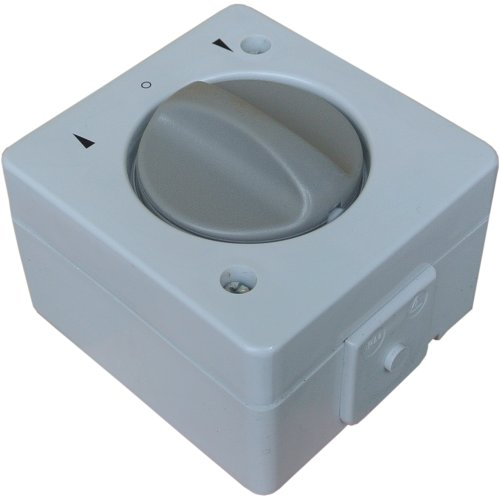 Wechselstrom 230V AC Jalousieschalter / Knebelschalter IP44 mit beidseitiger Tast- & Rastfunktion Feuchtraum spritzwassergeschützt Aufputz System: STERA