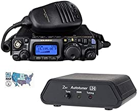 Yaesu FT-818 Radio and Accessory Bundle - 3 Items - Includes FT-818 HF/VHF/UHF All-Mode Portable QRP Transceiver, LDG Z-817 Automatic Antenna Tuner, and Ham Guides TM Quick Reference Card