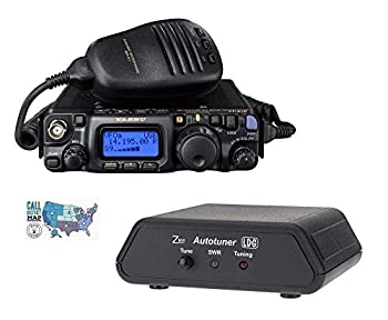 Yaesu FT-818 Radio and Accessory Bundle - 3 Items - Includes FT-818 HF/VHF/UHF All-Mode Portable QRP Transceiver LDG Z-817 Automatic Antenna Tuner and Ham Guides TM Quick Reference Card