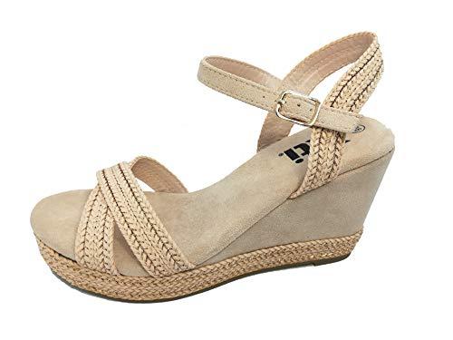 Sandalia CUÑA - Mujer - Nude - xti Footwear - 49075-40