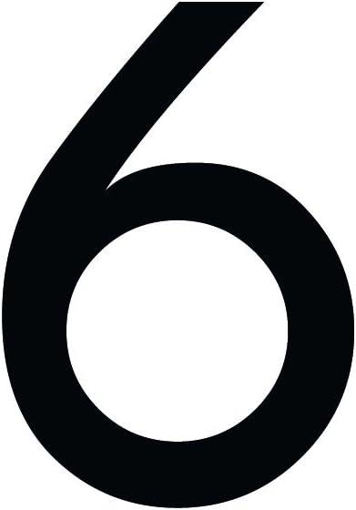 1peak Zahlenaufkleber Nummer 6 Schwarz 20cm 200mm Hoch Aufkleber Mit Zahlen In Vielen Farben Höhen Wetterfest Küche Haushalt