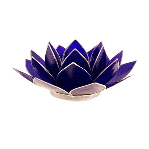 Porte Bougie Fleur de Lotus Orange 13,5cm