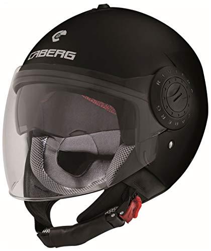 Caberg Helm Riviera V3 Jethelm matt schwarz, 30530017, Größe M (57/58 cm)