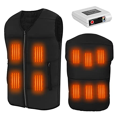 Women Heated Vest with Battery Pack Winter Heating Vest Water&Wind Resistant - S