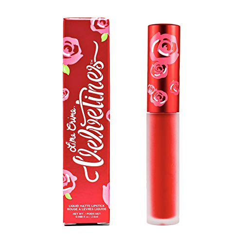 Lime Crime Velvetines Liquid Matte Lipstick, Red Velvet - True Red - French Vanilla Scent - Long-Lasting Velvety Matte Lipstick - Won't Bleed or Transfer - Vegan