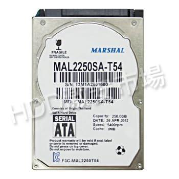 【250GB】MARSHAL 2.5インチHDD SATA MAL2250SA-T54 (250GB,5400rpm,S-ATA)