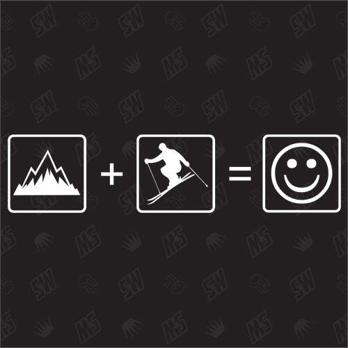 Berge + Ski = Smile - Sticker