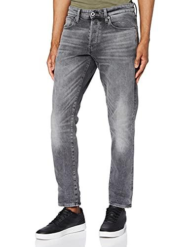 G-STAR RAW Herren Jeans 3301 Straight Tapered, Faded Bullit C293-B466, 34W / 30L