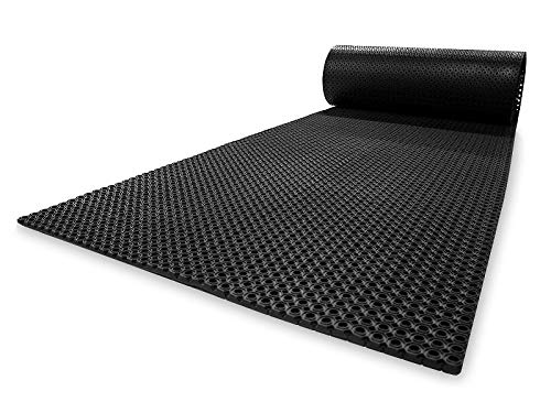 Ringgummimatte Octo Roll | Leistungsstarke Eingangsmatte | Wetterfest & langlebig | Ideale Drainage dank Wabenstruktur | Viele Größen (100 x 300 x 1,3 cm)