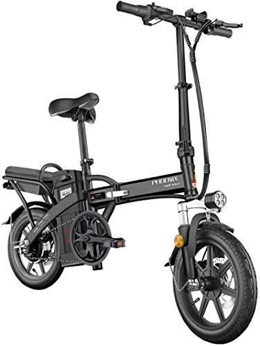 Bicicleta de montaña eléctrica, Bicicletas eléctricas rápidas for adultos 14inch bicicleta eléctrica plegable Bicicleta eléctrica for adultos con Motor inversor, Ciudad de bicicletas Velocidad máxima