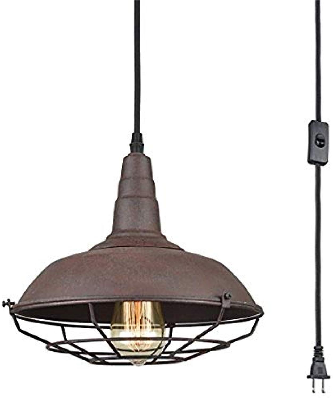 Xiadsk Licht, Lampe, Laterne Farmhouse Industrial Lighting Fixture Plug in Metall-Pendelleuchten