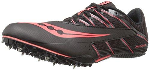Saucony Men's Spitfire 4 Track Shoe, Black/Red, 11 M US