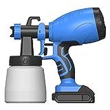 SETSCZY Pistola de Pintura, 350 ml/min, Pistola para Pintar Pintura de 100 DIN/s, con Recipiente de 1200ml y φ2.5mm Boquillas para Pintura y Decoración de Bricolaje