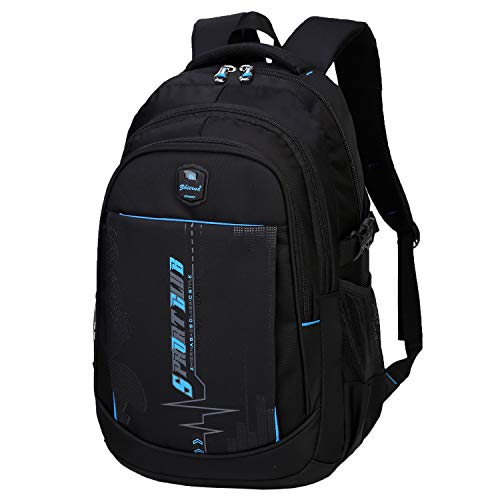 SIVENKE Zaino scuola zaino scuola borsa scuola zaino laptop zaino giorno multifunzionale borsa laptop borsa sportiva idrorepellente nero 35L