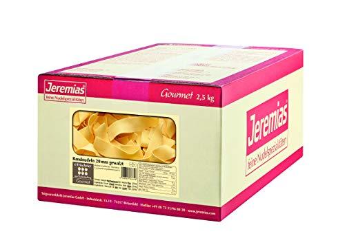 Jeremias Bandnudeln 20 mm gewalzt, Gourmet Frischei-Nudeln, 1er Pack (1 x 2.5 kg Karton)