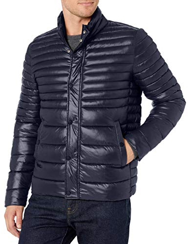 Kenneth Cole New York Men's Hooded Down Alternative Jacket, Navy, Large