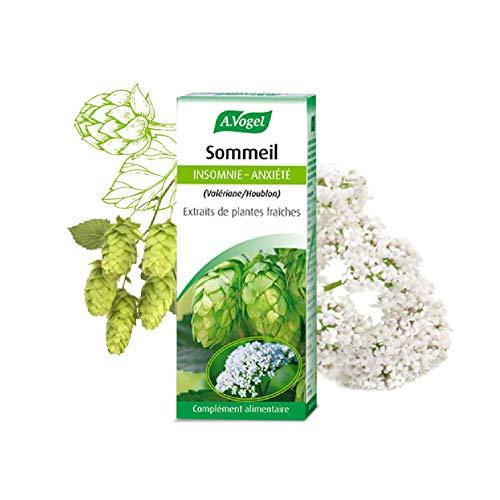A. VOGEL - Sommeil - Complément alimentaire à Base d'Extrait de Plantes Fraîches (EPF) Issues de l'Agriculture Biologique : Valériane, Houblon - Flacon 50 ml - Laboratoire Suisse