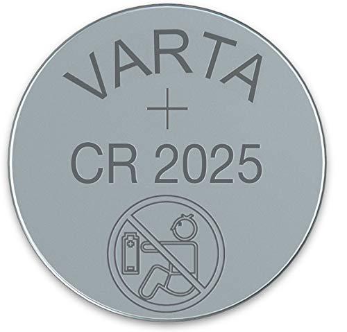 VARTA CR2025 Lithium Hochleistungs Knopfzelle 3 Volt im Tray Blister Pack, 20 Stück