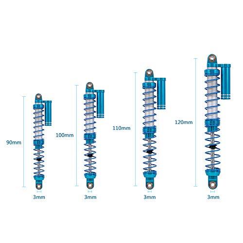 Goolsky 110mm Stoßdämpfer Interne Feder Unterdruck Dämpfer für Tamiya CC01 TRX-4 scx10 D90 D110 RC Crawler 2 Stücke