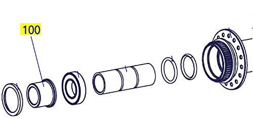 DT Swiss HCA00100S4601S Embout latéral Avant Non-Drive pour axe 350 15 mm