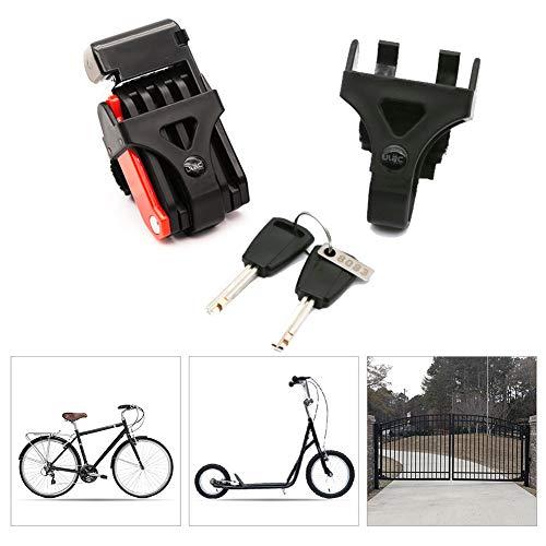 Bicicleta Plegable Candado Anti-robo Cadena Acero Multiusos Seguridad Ciclismo