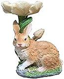 Jardin Decoracion Adornos para Jardin Adornos de decoración de jardín, estatua de conejo al aire libre, modelo de animal de simulación, escultura de conejo, decoración de jardín, comedero para p