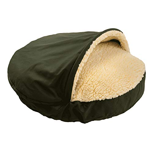 Snoozer Orthopedic Cozy Cave Pet Bed, X-Large, Olive