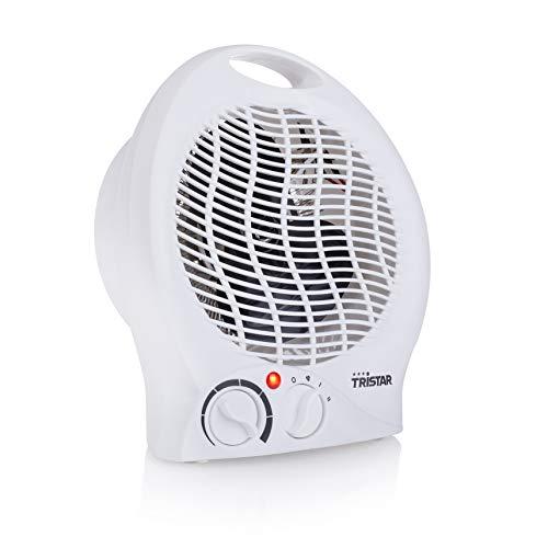 Tristar KA-5039 Calefactor con ventilador eléctrico y 3 funciones ajustables, Termostato regulable,...