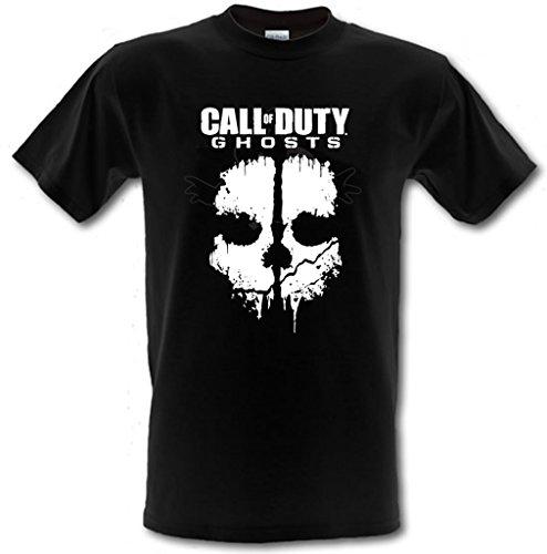 Call of Duty Ghosts Gamer PS4 Xbox T-shirt 100 % coton pour enfant de 5 à 15 ans - Noir - 12_ ans