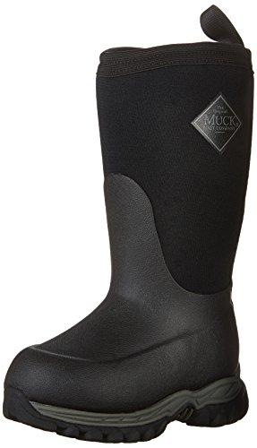 Muck Boot unisex child Rugged Ii Pull On Boot, Black/Black, 3 Little Kid US