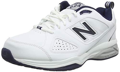 New Balance 624, Zapatillas Deportivas para Interior Hombre, Blanco (White/Navy WN4), 42.5 EU